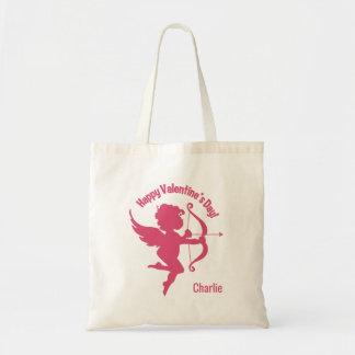 Valentine Cupid optional name tote bags