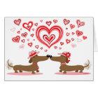 Valentine Dachshunds - Customised Card