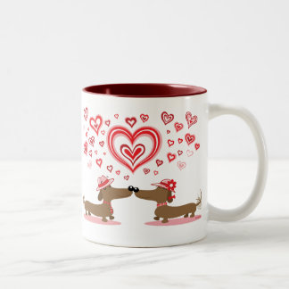Valentine Dachshunds Coffee Mugs