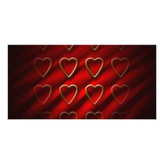 Valentine Day Background Photo Cards