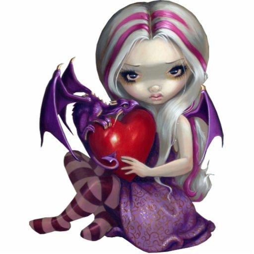 Valentine Dragon fairy PhotoSculpture Acrylic Cut Outs