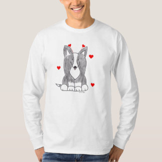 Valentine Ears Cardigan Blk Long Sleeve T-Shirt