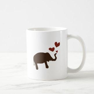 Valentine Elephant Basic White Mug