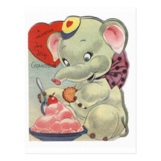 Valentine Elephant Postcard