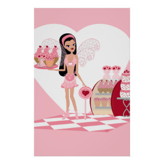 Valentine Faery with Sweets Print