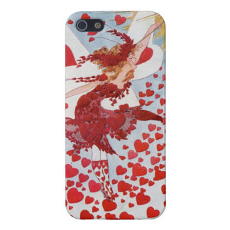 Valentine Fairy Vintage Card, Hearts iphone case iPhone 5/5S Cases