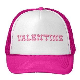 Valentine Fancy Pink Text Mesh Hats