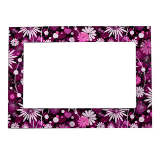 Valentine Floral Pattern Photo Frame Magnets