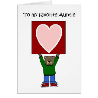 Valentine for Aunt Greeting Card