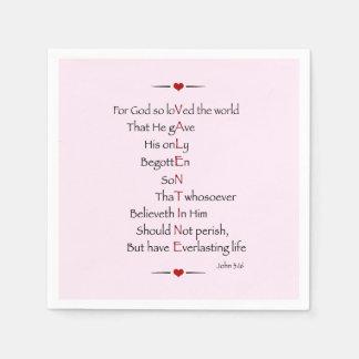 VALENTINE - For God So Loved the World Disposable Napkins