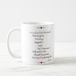 VALENTINE - For God So Loved the World Coffee Mugs