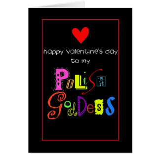 Valentine for Polish female Greeting Cards