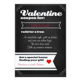 Valentine free coupon 9 cm x 13 cm invitation card