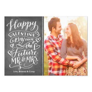 Valentine Future Mr. and Mrs. Photo Save The Date 13 Cm X 18 Cm Invitation Card