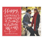 Valentine Future Mr. and Mrs. Photo Save The Date Postcard