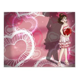 Valentine Girl 11 Cm X 14 Cm Invitation Card
