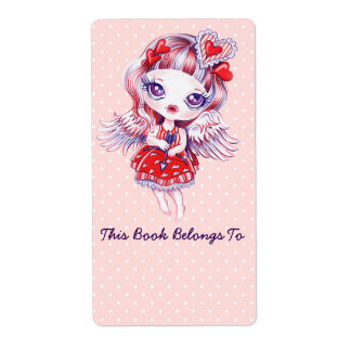 Valentine Girl Bookplates Labels