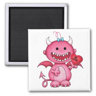 Valentine Girl Devil Fridge Magnet