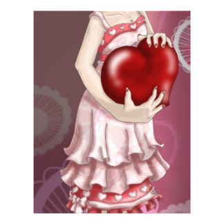 Valentine Girl Flyer Design