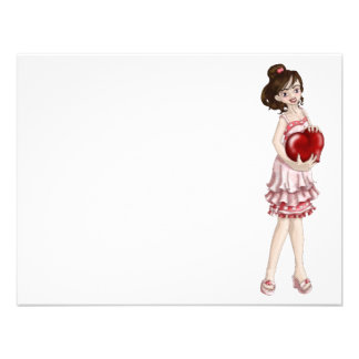 Valentine Girl Personalized Announcements