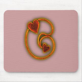 Valentine Glow Monogram Mousepads