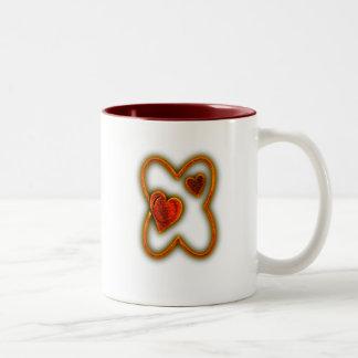 Valentine Glow Monogram Mugs