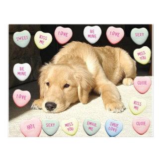 Valentine Golden Retriever Puppy 21.5 Cm X 28 Cm Flyer
