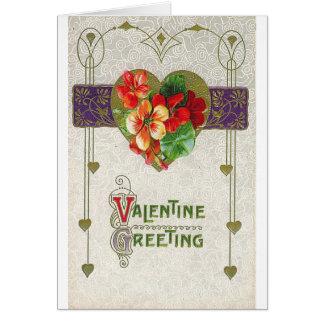 Valentine Greeting Floral Greeting Card