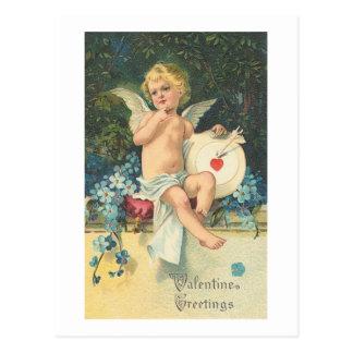 Valentine Greetings Cupid Postcard