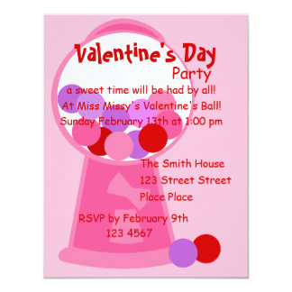Valentine Gumball Machine 11 Cm X 14 Cm Invitation Card