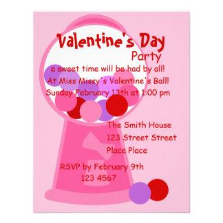 Valentine Gumball Machine Custom Invitation