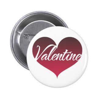 Valentine Heart 6 Cm Round Badge