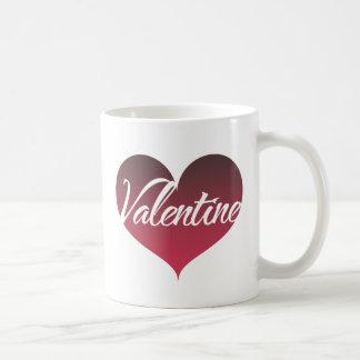 Valentine Heart Basic White Mug