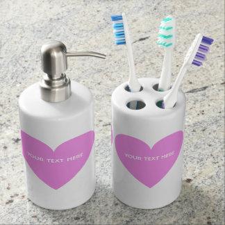 Valentine Heart custom bathroom set