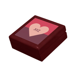Valentine Heart custom monogram gift / jewelry box