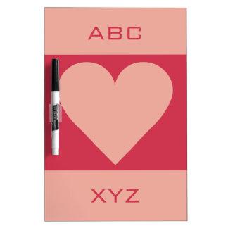Valentine Heart custom monogram message board