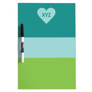 Valentine Heart custom monogram message boards