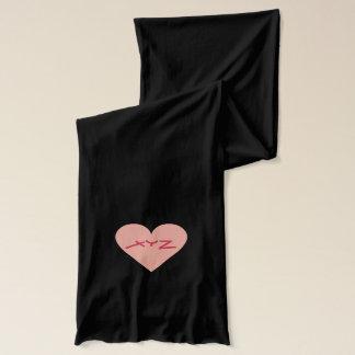Valentine Heart custom monogram scarfs Scarf