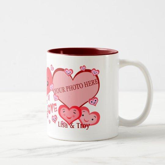 Valentine Heart Custom Photo Template Mug