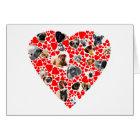 Valentine Heart Dog Photo Collage Card