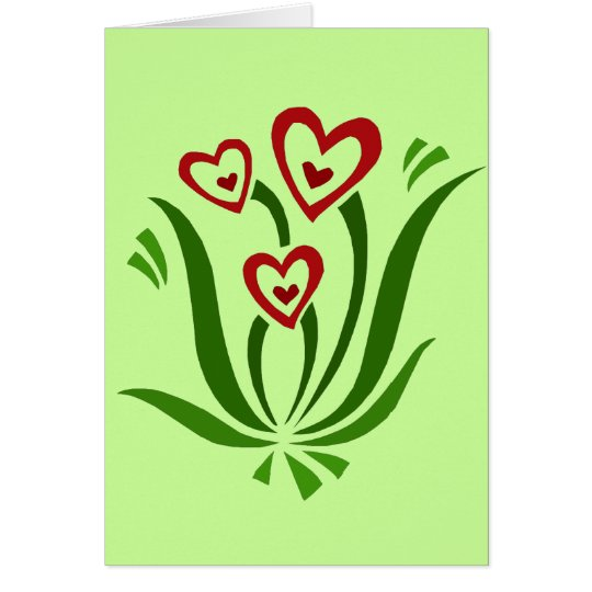 Valentine Heart Flowers card