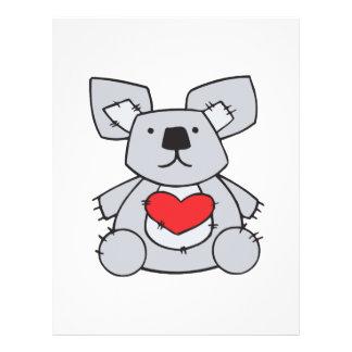 valentine heart koala bear custom flyer