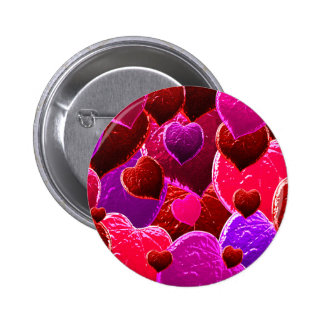 Valentine Heart Love Leaves 6 Cm Round Badge