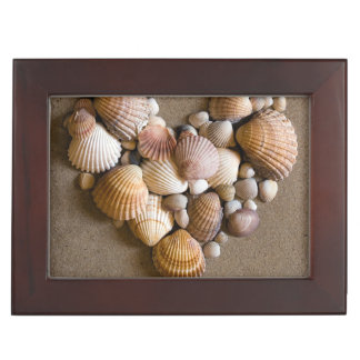 Valentine Heart Made with Shells Keepsake Boxes