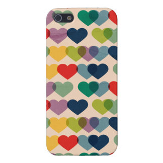 Valentine Heart Pattern Colorful Hearts Case For iPhone 5/5S