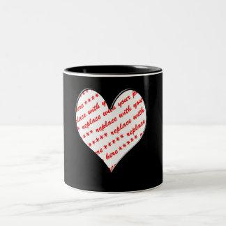 Valentine Heart Photo Frame Coffee Mugs