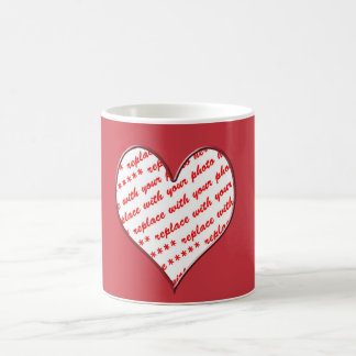 Valentine Heart Photo Frame Basic White Mug