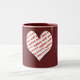 Valentine Heart Photo Frame Two-Tone Mug