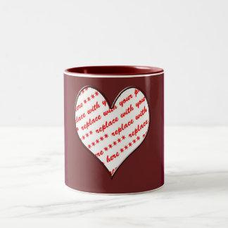 Valentine Heart Photo Frame Two-Tone Mug