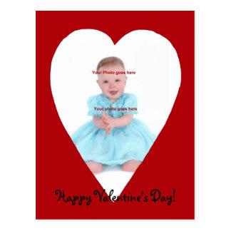 Valentine heart photocard postcard